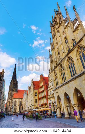 Buildings At The Prinzipalmarkt In Muenster, Germany