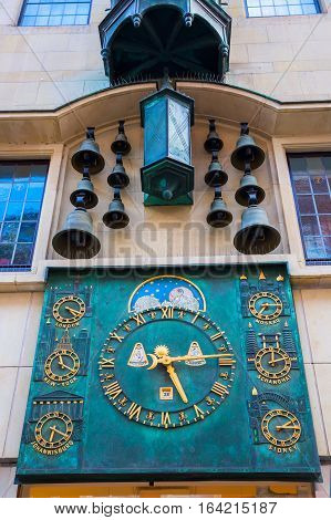 Chimes And World Time Clock In Muenster, Germany