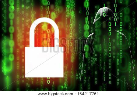 Digital technology data encryption can prevent hacker or data leak in matrix (hidden data)