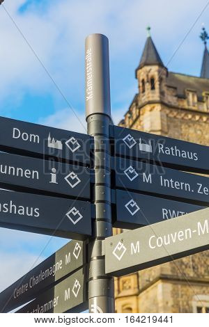 Street Name Sign In Aachen, Germany