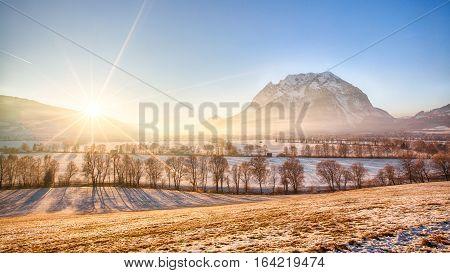 Grimming mountain in the Ennstal in Styria Austria