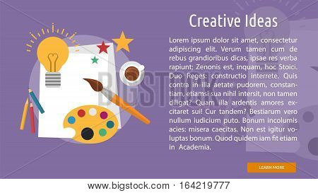 Creative Ideas Conceptual Banner | Great flat illustration concept icon and use for Business, Creative Idea, Concept, Marketing and much more