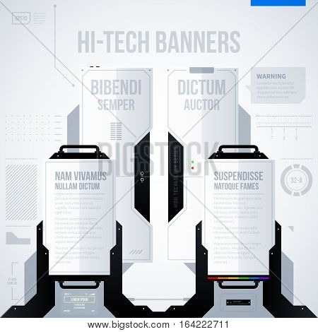 Hi-tech Vector Template. Useful For Presentations And Advertising.