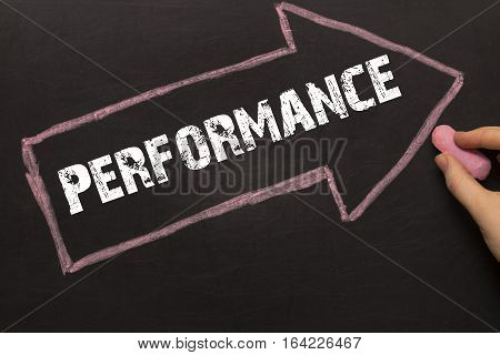 Performance - Chalkboard With Arrow On Black