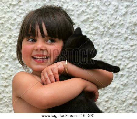 A Child Happy And Smiling