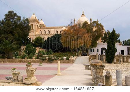 Ruins of ancient city Carthage in Tunisia