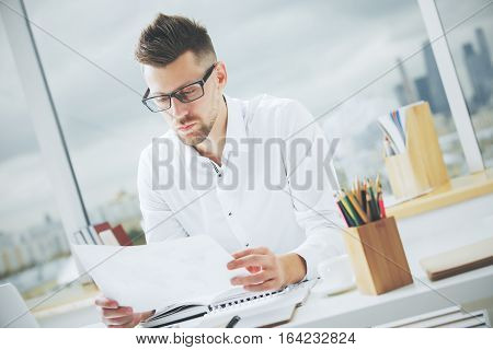 Handsome Male With Document