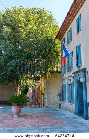 Forecourt Of The Municipality In Grimaud, France