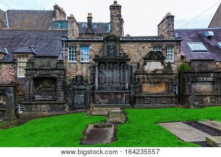 Greyfriars Kirkyard In Edinburgh, Uk