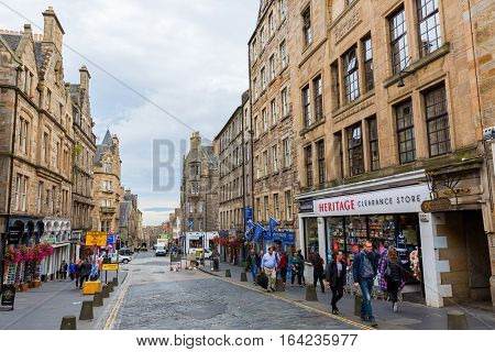 Royal Mile In The Old Town Of Edinburgh