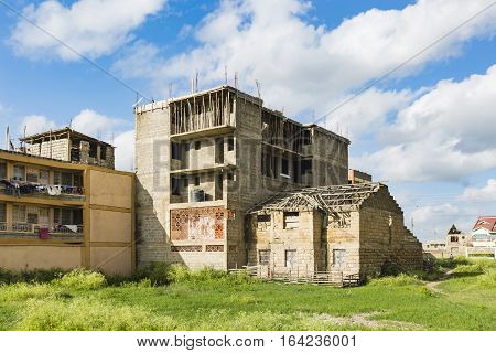 Ruined House And Construction Site, Kenya