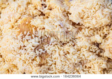 Close up view of rice texture for blur background