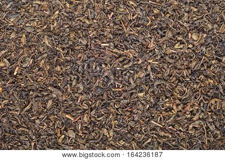 dry black tea background texture closeup detail