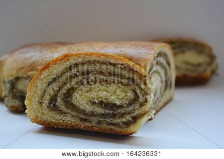 sweet nut rolls for dessert , sweet pastries