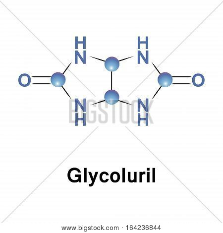 Glycoluril is an organic chemical composed of two cyclic urea groups joined across the same two-carbon chain.
