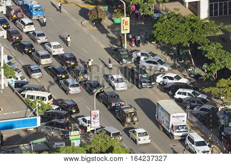 Nairobi Traffic Jam, Kenya, Editorial