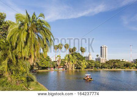 Paddle Boat In Uhuru Park In Nairobi, Kenya, Editorial
