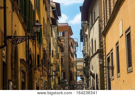 Narrow Alley In The Old Town Of Florence