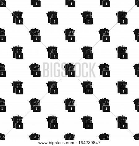 Document protection pattern. Simple illustration of document protection vector pattern for web