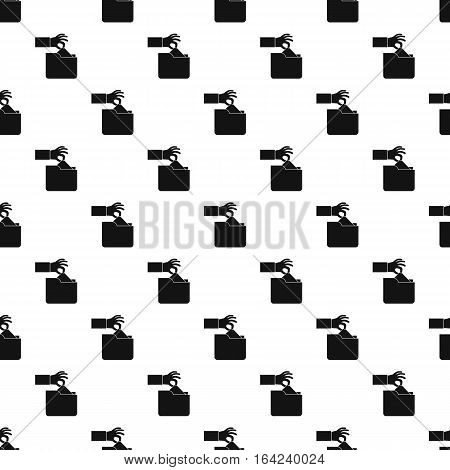 Hand stealing e-mail pattern. Simple illustration of hand stealing e-mail vector pattern for web