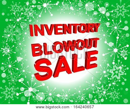 Red And Green Sale Poster With Inventory Blowout Sale Text. Advertising Banner