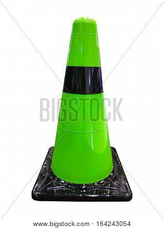 traffic road cone pylon isolated on white background