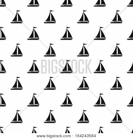 Boat with sails pattern. Simple illustration of boat with sails vector pattern for web