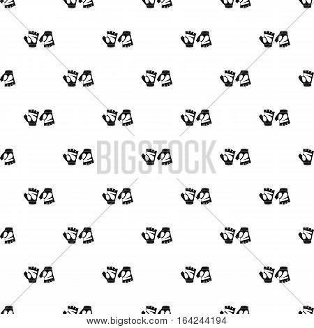 Gloves for biker pattern. Simple illustration of gloves for biker vector pattern for web