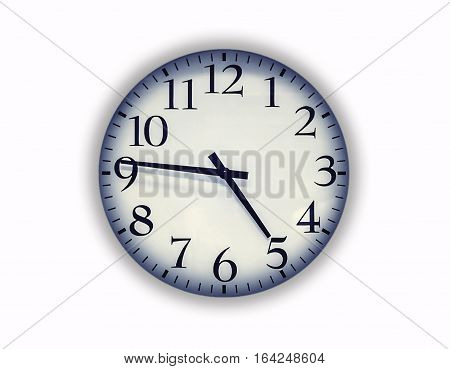 the office clock , isolated on white background