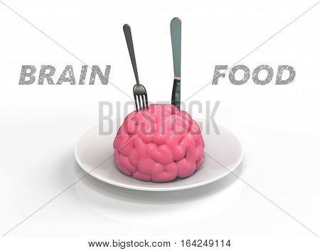 Brain Food 3D Illustration