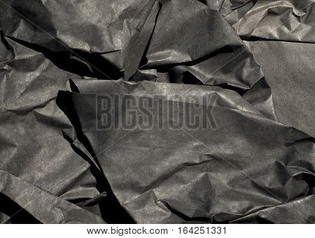 Thick Black Paper Crumpled
