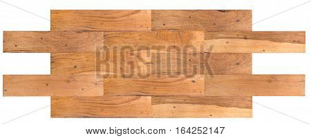 Wooden background for floor or table made from herringbone pattern of aged wood planks