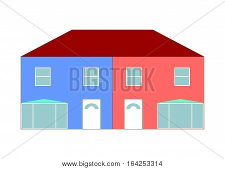 Semi House Illustration