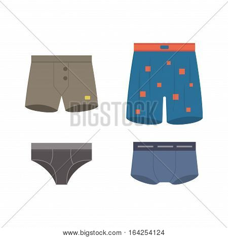 Underwear clothes for man vector icon isolated for design. Elegance line panties accessories. Beautiful body coat sensuality collection male textile.