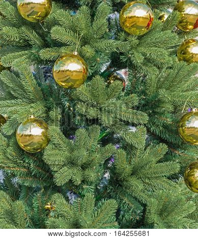 Close-up of very beautiful Christmas -tree decorations