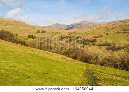 View from the mountains over the beautiful countryside