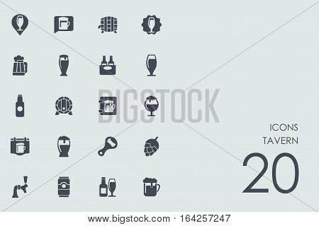 tavern vector set of modern simple icons