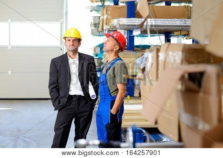 Boss And Worker In Conversation