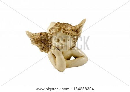 small figurine of lying little angel, culture, religion
