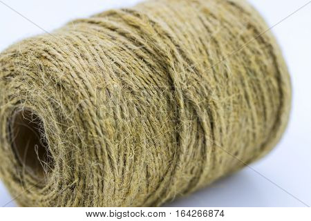 Skein Of Jute Twine On The White