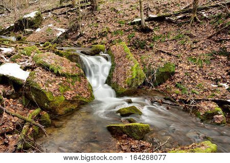 Waterfall in the Allegheny National Forest in Pennsylvania