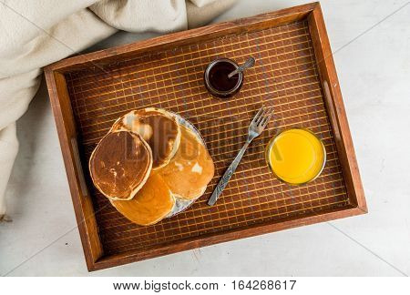 Continental Breakfast With Pancakes