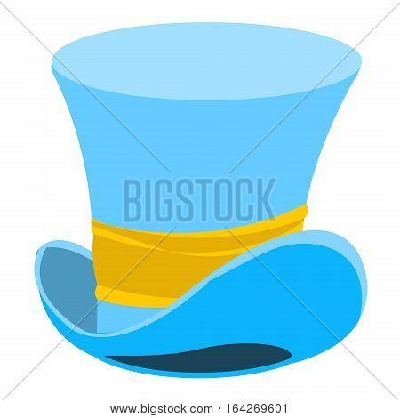 Blue wizard hat. The old man's headdress. Cylinder gentleman. Hat shop.
