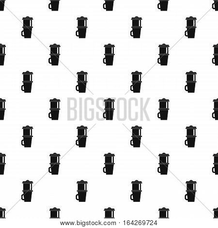 Mug for coffee pattern. Simple illustration of mug for coffee vector pattern for web