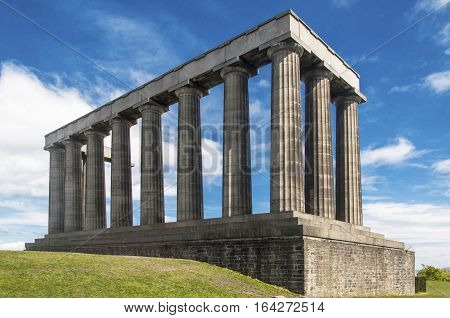 National Monument in Calton Hill Edinburgh, Scotland