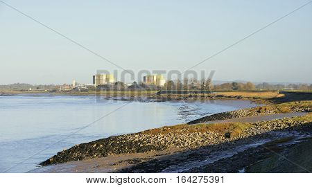 River Severn & Disused Berkeley Power Station Gloucestershire