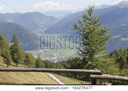 view of the  Valley Isarco in south Tyrol in Italy