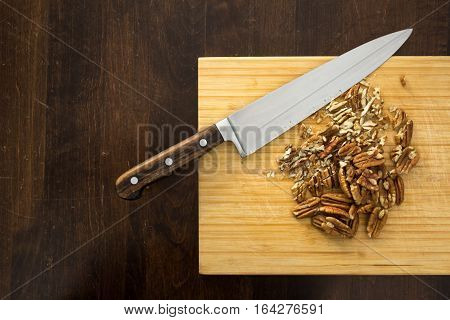 Chopping Pecans, From Above
