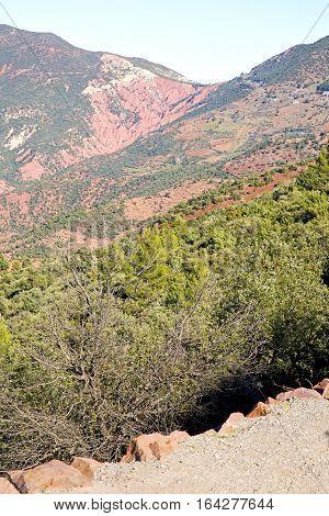 The    Dades Valley  Atlas Moroco   And Nobody