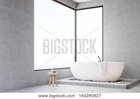 Corner Of Bathroom With Rectangular Window